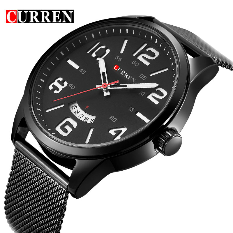 CURREN brand design new fashion casual steel sport man clock military army business wrist quartz male luxury gift watch 8236(China (Mainland))