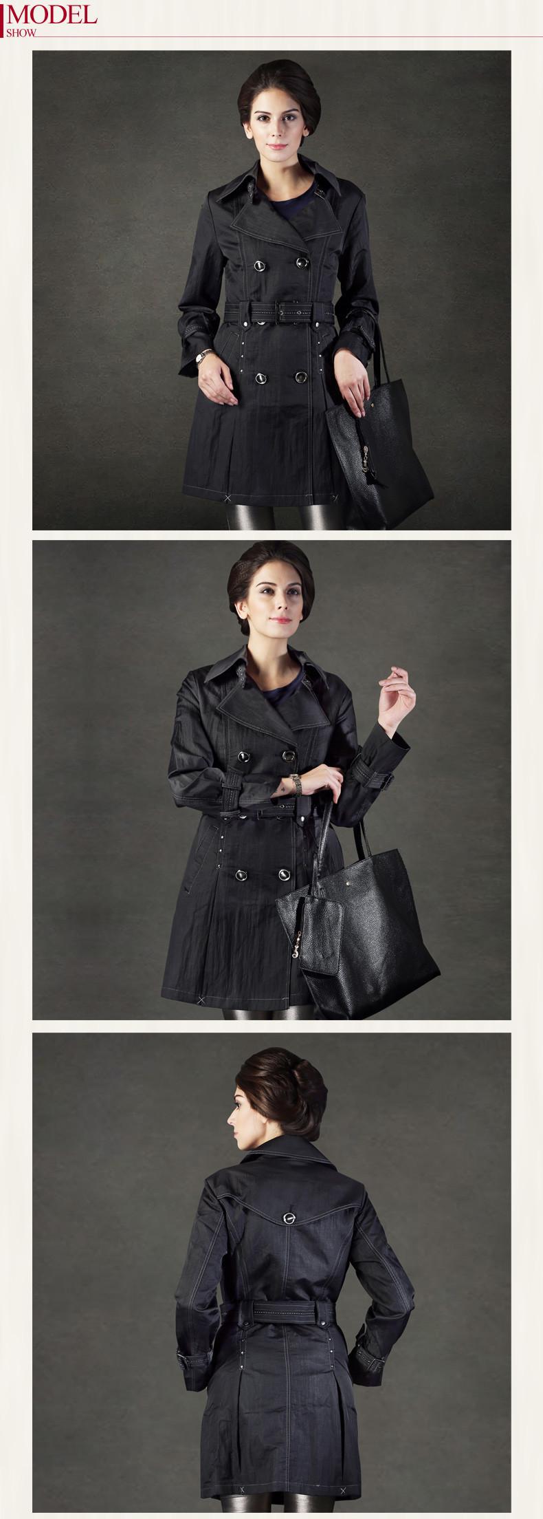 נשים מעיל סתיו חורף בינוני-ארוך אופנה סלים ג ' קט Casacos Inverno 2014 משלוח חינם 9622