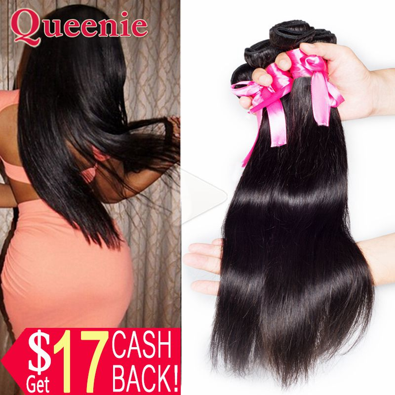 Human Hair Wig Malaysia Straight Hair #1B Natural Black Color 4pcs Cabelo Humano 100% Unprocessed Human Hair Weave Bundle