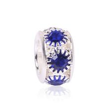 ** 7彩色水晶歐洲合金珠/潘多拉手鍊材料