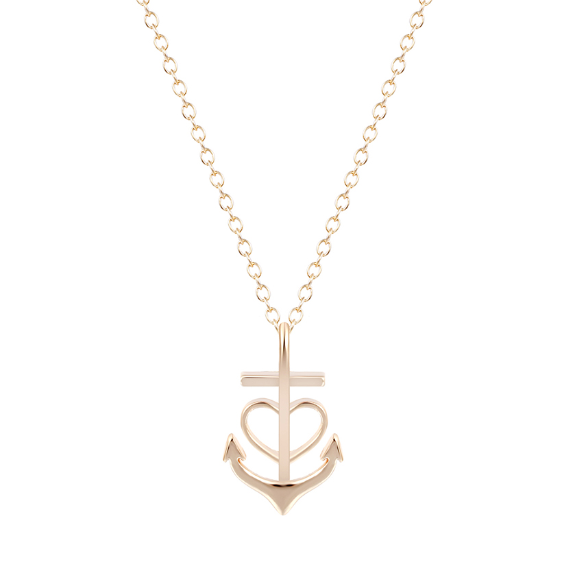 30PCS Minimalist Hunger Games Jewelry Bridesmaid Gift Gold Silver Heart Anchor Necklaces Pendants For Women<br><br>Aliexpress