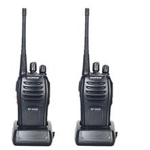 2PCS Dual Band Two Way Radio Baofeng BF-666S Walkie Talkie 5W Handheld Pofung bf 666s 400-470MHz UHF radio scanner