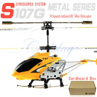 Free shipping cardboard box Syma  S107g  3.5 Channel Mini Indoor Co-Axial Metal RC Helicopter w/ Built in Gyroscope