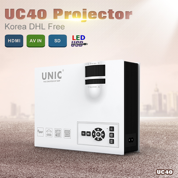 Full HD 1080P video UNIC UC40 support korean mini Pico portable Digital LED HD Projector with HDMI Home theater cinema projector