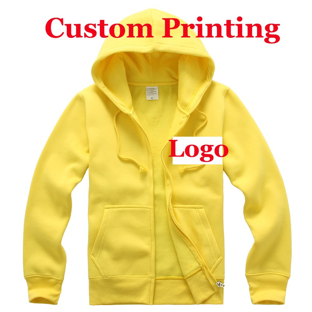 make your own logo custom printing logo individual gifts Designer Men women spring fall fleece blank 500gsm hoodie jumper HY19(China (Mainland))