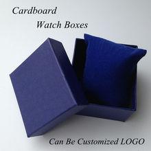 Moda de gama alta reloj de la marca de alta dureza de cartón forro de cuero gris de gran embalaje del regalo Watch puede personalizar LOGO 43