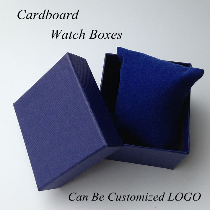 Fashion High-end Brand Watch Box High Hardness Cardboard Leather Lining Grey Large Gift Watch Packaging Can Customize LOGO 43(China (Mainland))