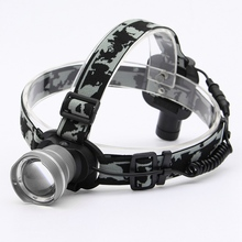 3 modes Waterproof Adjustable 2000Lm for 1xCREE XM-L T6 LED Rechargeable ZOOMABLE Headlamp 18650 Headlight for cycling camping(China (Mainland))