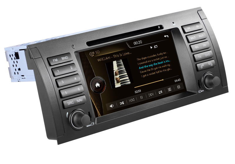 Autoradios 2din GPS BMW 5 E39 X5 E53 M5 Head Unit Bluetooth Radio RDS Steering wheel control 3G Host Free 8GB map Card - Auto-plus Store store