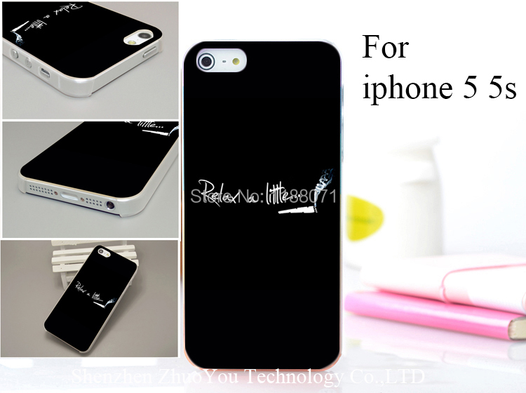 Relax a Little cigarette Style Hard Case Cover for iphone 5 5s 5g 5th 1PCS/lot drop shipping(China (Mainland))