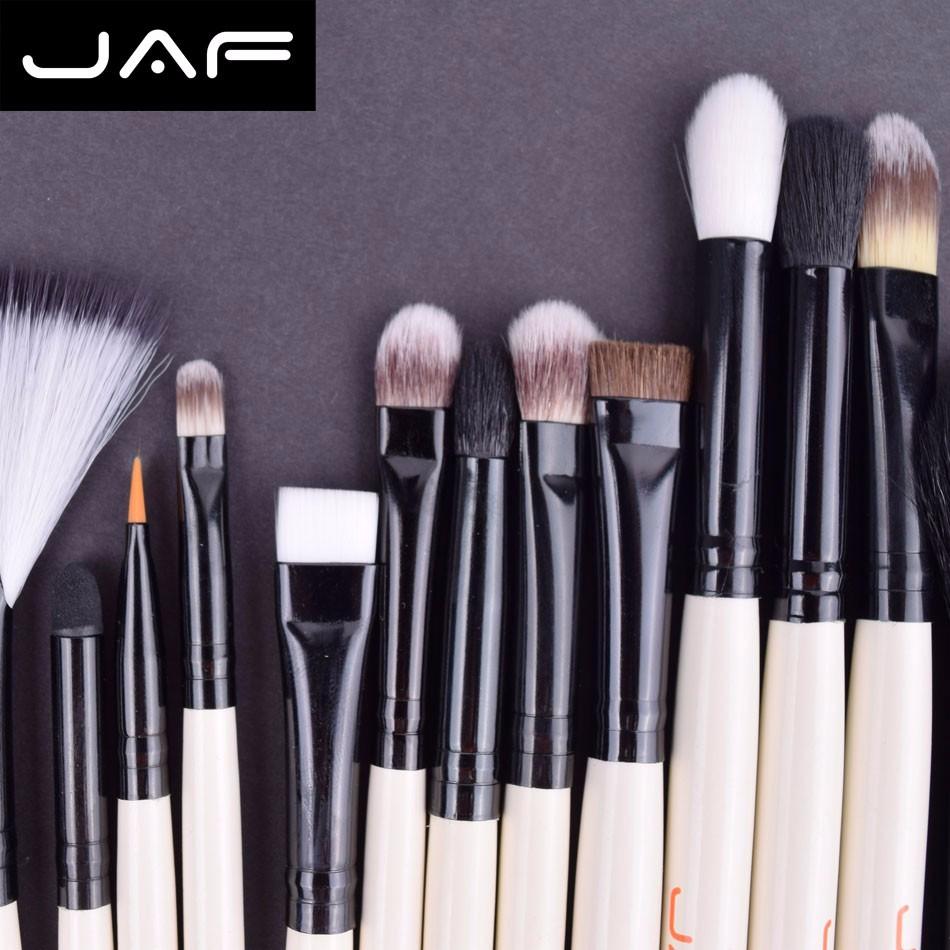 15 pcs JAF Marca Pincéis de Maquiagem Profissional Maquiagem Beleza Blush Contorno Fundação Cosméticos Pó Pincel de Maquiagem Conjunto Kit de Ferramentas