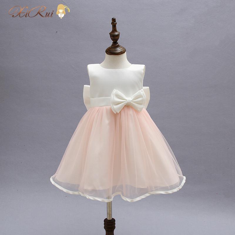 2016 Formal vestidos Baby Girls christmas Dress baptism Party wedding infant princess sleeveless evening dresses clothing(China (Mainland))