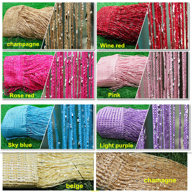 New hot sale line curtain silver thread curtain home,hotel, decoration backdrop(China (Mainland))