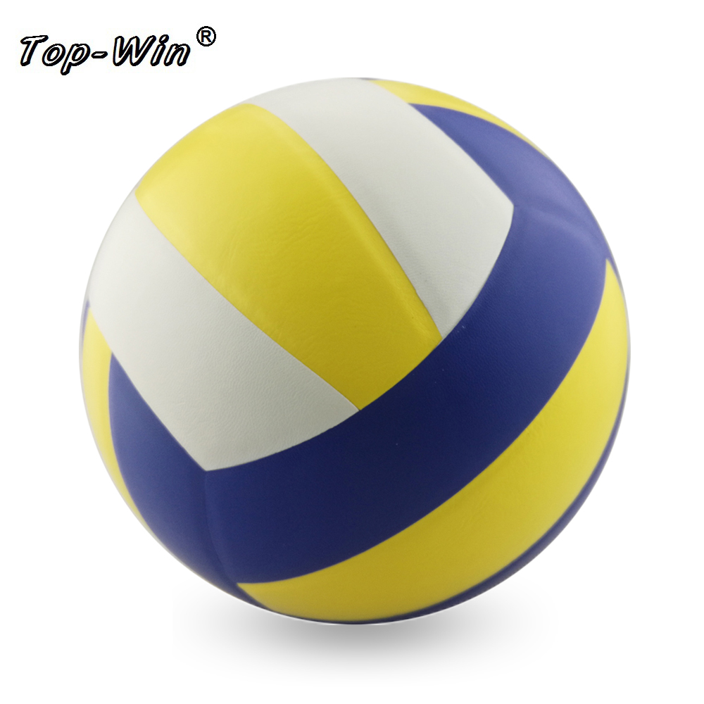 Soft Touch Handball Voleibol Pvc laminated volleyball beach volleyball ball 5# free with nylon bag and needle(China (Mainland))