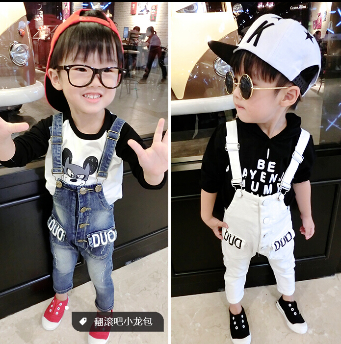 Children Rompers Autumn 2015 models baby boy pants pantyhose tide(China (Mainland))