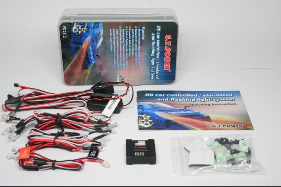F13059 G.T.Power Radio Controlled / Simulated / Flashing Light System with 6 Flashing Modes for RC Car Model + FS(China (Mainland))