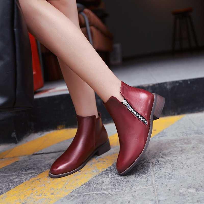 ซื้อ พลัสSize34-43 2016ใหม่เซ็กซี่เลดี้ลำลองสั้นรองเท้าข้อเท้า3 Colorsออกแบบแฟลตข้อเท้าของผู้หญิงรองเท้าหิมะSBT1658
