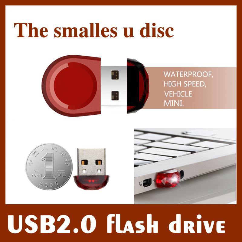 The smalles u disc 4gb 8gb 16gb 32gb 64gb usb 2.0flash drive high speed waterproof pen drive memory stick jump drive usb(China (Mainland))