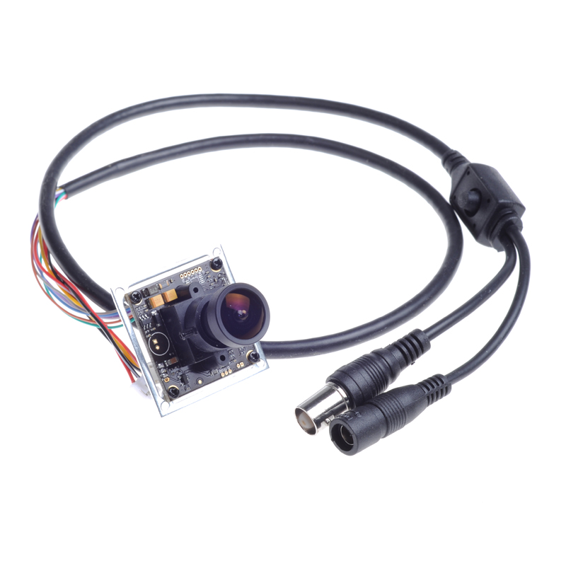 Free Shipping to RU! 1/3 SONY CCD Effio-E DSP 700TVL 2.1mm Lens CCTV Security PCB Board Color Camera OSD 0.001 Lux(China (Mainland))