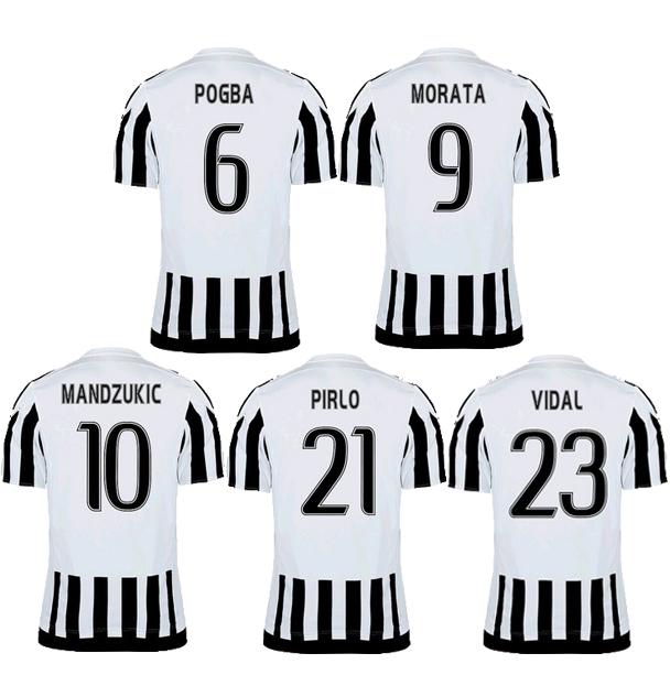 Chandal POGBA 2016 Serie A football shirt Jersey Custom DIY PIRLO MARCHISIO CHIELLIN soccer jerseys 15 16 Camisa de futebol(China (Mainland))