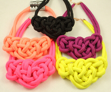 22016 New necklaces costume items neon Short Bib Chunky choker Statement necklace Women collares factory price Jewelry(China (Mainland))