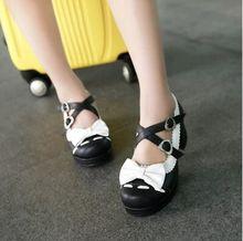Hot selling!Japanese style shoes women pink cute bow Lolita shoes female student's bandage kawaii princess shoes free shipping(China (Mainland))
