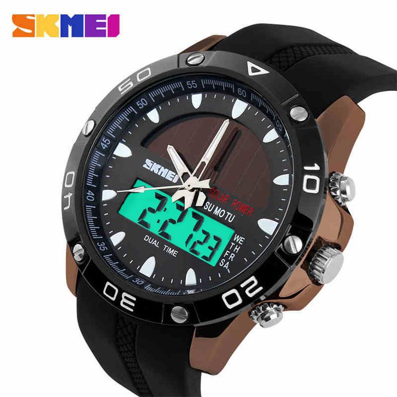 Skmei Solar Power Energy Men Sports Watches Digital Quartz Watch Relogio Masculino Solar Men Military Watch relojes hombre 2015(China (Mainland))