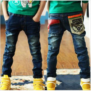 Free Shipping 2015 Spring New Boy Pants Kids Boys Jeans Trousers Children Denim Pants Nzk01