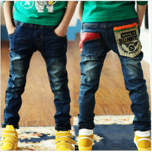 Free Shipping 2015 Spring New Boy Pants Kids Boys Jeans Trousers Children Denim Pants Nzk01(China (Mainland))