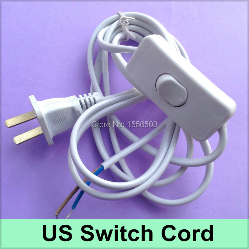 20 Pcs/lot Switch Cable On-off Cord For LED Lamp DIY Switch US Plug Light Switching Wire Cord 1.8M Extension Black White Cable<br><br>Aliexpress