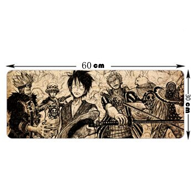 New Fashion Large Mouse Pad with cartoon One PIECE Pattern Practical Cool Mouse mat 600*300*3mm office mousepad(China (Mainland))