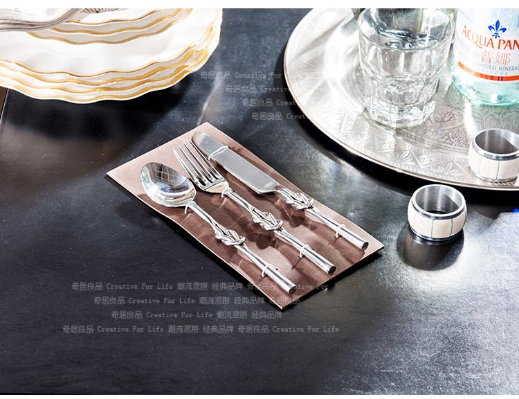 Buy India ranks high yield odd home decorations ornaments food supplies alloy knife and fork spoon three sets cheap