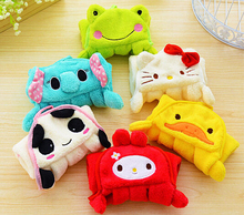 Cute Cartoon animal/ Sleeveless skirt Coral velvet Towel Dry Hands Cloth cleaning accessories Kitchen/wholesale(China (Mainland))