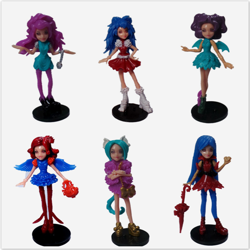 6pcs/set New Classic Moveable Joint Doll Toys Gifts Baby And girl devil Doll body good Quality Plastic Doll Best gift tzx144(China (Mainland))