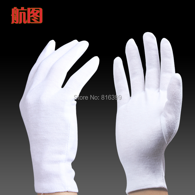 Гаджет  free shipping White Cotton Gloves Serving/Waiters Gloves Concierge Butler Snooker Equestrian None Безопасность и защита