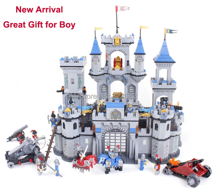 Toy Castle Show : Enlighten building blocks toy lion castle knight series