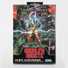 Ghouls 'N Ghosts Game Cartridge 16 bit MD Game Card With Retail Box For Sega Mega Drive For Genesis