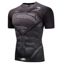 Капитан Америка Фитнес Бодибилдинг компрессия рубашка для мужчин аниме рашгарда Рашгард ММА Crossfit 3D Супермен Каратель футболка(China)