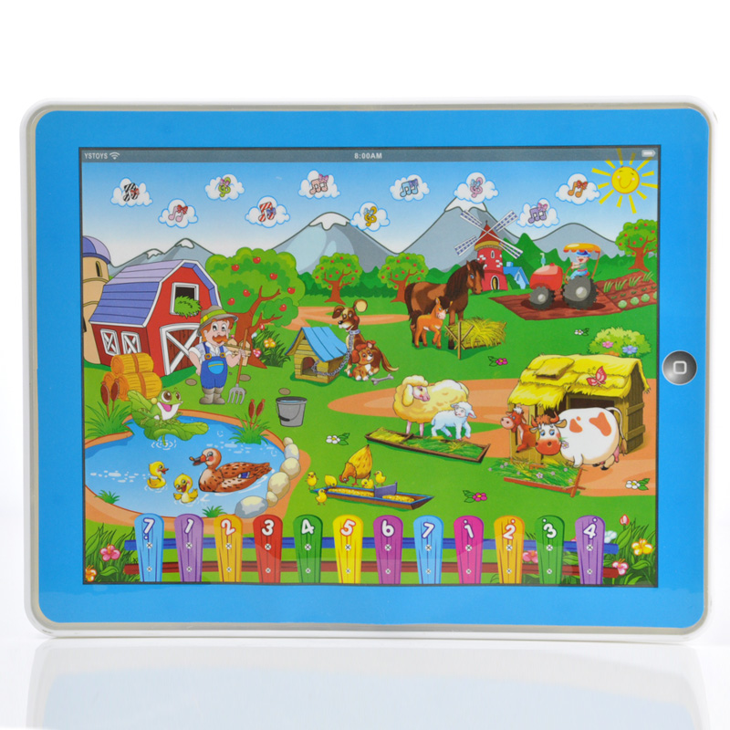 Children's Computer Children English Farm Learning Machine Educational Toys Computer For Kid Farm Original Packaging 82921a(China (Mainland))