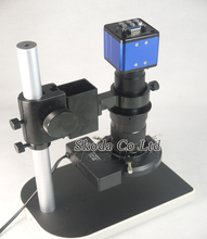 2MP HD Digital Industrial Microscope Camera for Industry Lab VGA Video Output+130X C-mount Lens + 56 LED ring Light + Stand(China (Mainland))