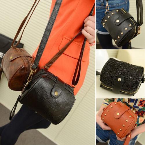 Portable Women Girls Camera Bag PU Leather Shoulder Tote Cross-Body HandBag(China (Mainland))