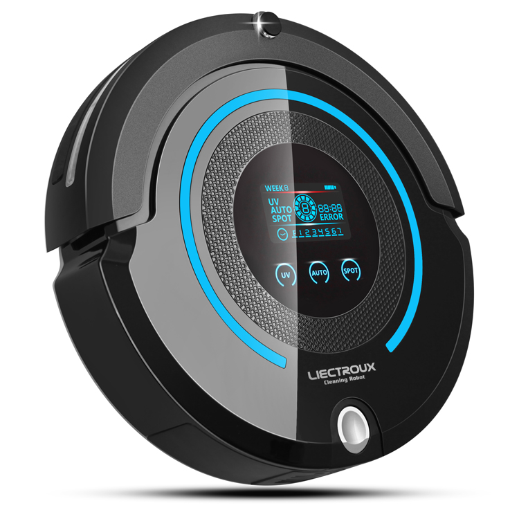 Free Shipping For Russian buyer 4 in 1 Multifunctional Auto Vacuum Cleaner Robot With UV ,Big LCD,Schedule,Two Way Virtual Wall(China (Mainland))