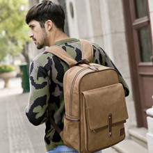 Buy HOT!! male fashion casual canvas backpack middle school students school bag men travel bag large capacity backpack man bags for $29.89 in AliExpress store