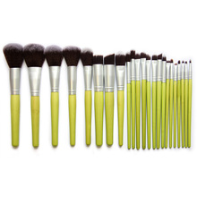 23 PCS Bamboo Brush Makeup Brushes Set Powder Blusher Foundation Eyeshadow Cosmetic Brush Artifical Hair Brush Tools(China (Mainland))
