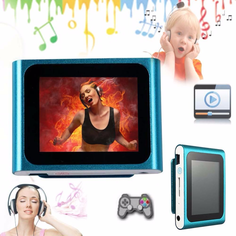 """6TH GENERATION MP3 MP4 MUSIC MEDIA PLAYER FM Games Movie 1.8""""LCD SCREEN NEW C small mp3 player best mp3 mp4 player for gift(China (Mainland))"""