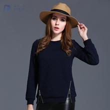 2016 spring new arrival plus size fashion women casual sweatshirt blue big size 5XL women knitwear(Hong Kong)