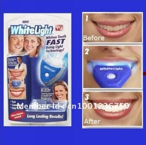 Free shipping Whitelight  Whitener Teeth Whitening System with retail box AS SEEN ON TV ITEM