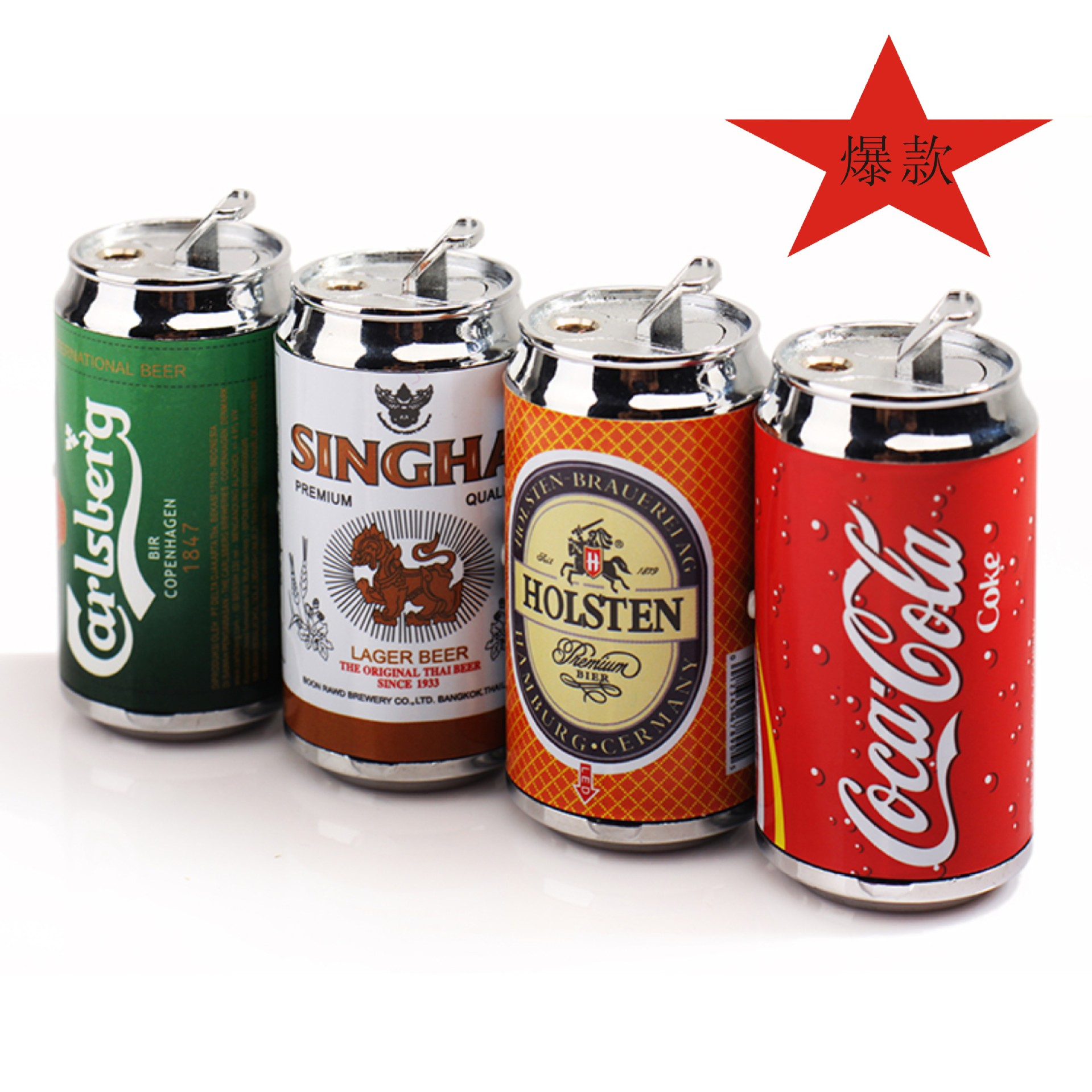 Led Lighter Cans Of Beer Bottles Wholesale Creative Personality Lighter Gas Lighter Vintage Lighter Butane Lighter Gas(China (Mainland))