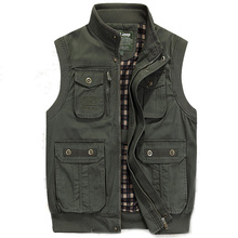 SheXiang Mrs 2016 Men's Outdoors Army Multi Pocket Fork Mesh Vest Military Jacket Reporter Photograph Vest Big Plus Size L-7XL(China (Mainland))