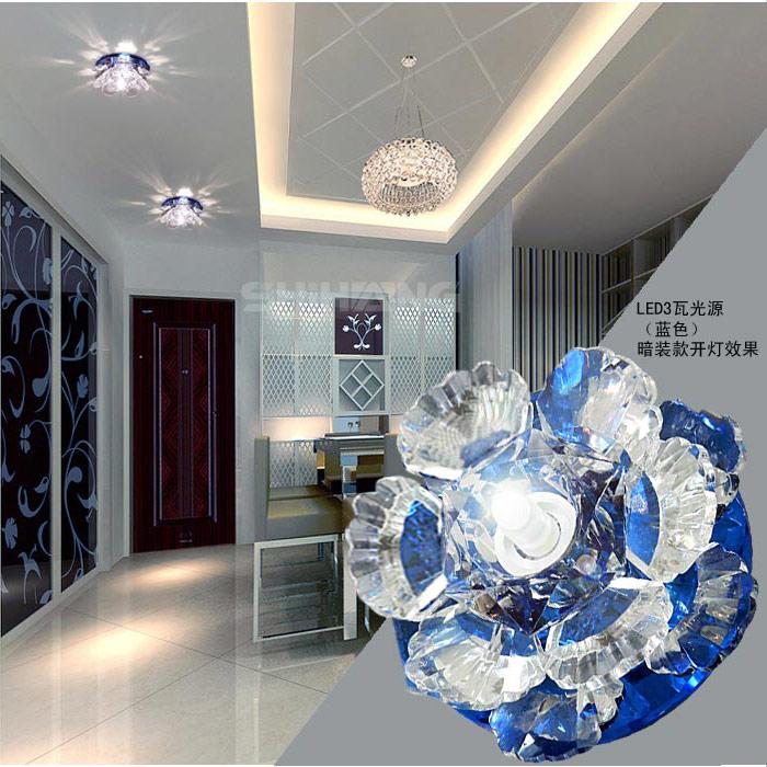 3W modern led ceiling lights for living room crystal Lampshade LED lamp Home Lighting AC85-265V luminaria teto abajur(China (Mainland))